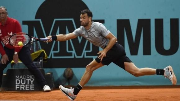 Григор Димитров още е в Мадрид, подготвя се за Рим