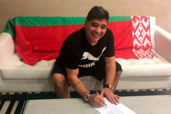 Марадона стана футболен шеф в Беларус