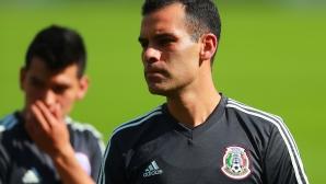 Рафаел Маркес тренира с националния отбор на Мексико, но с екип без логото на спонсорите
