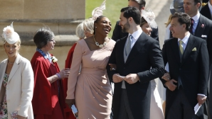 Серина Уилямс и Дейвид Бекъм на кралската сватба