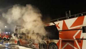 Футболистите на Цървена звезда едва не се запалиха в автобуса си (видео + снимки)