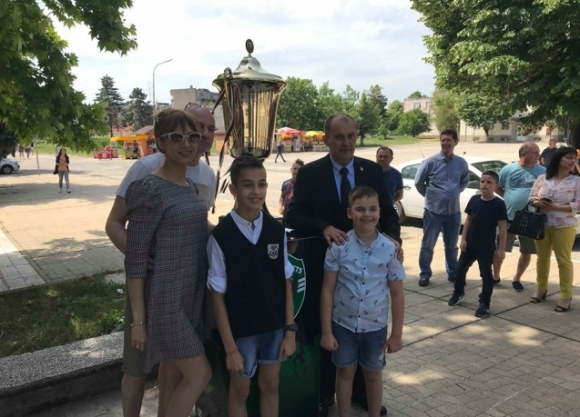 Лудогорец показа седмата шампионска купа в Кубрат
