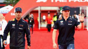 Рикардо и Верстапен се състезаваха с каравани преди Монако (видео)
