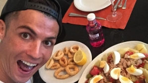 Какво слага в устата си Кристиано Роналдо сутрин, обед и вечер