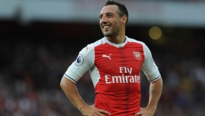 Санти Касорла се сбогува с феновете на Арсенал
