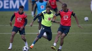Бразилия изпробва вариант с Неймар, Габриел Жезус и Вилиан в атака