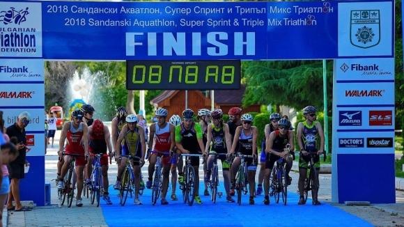 Държавният шампионат по триатлон събра хиляди в Сандански