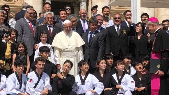 Слави Бинев на среща с Папата