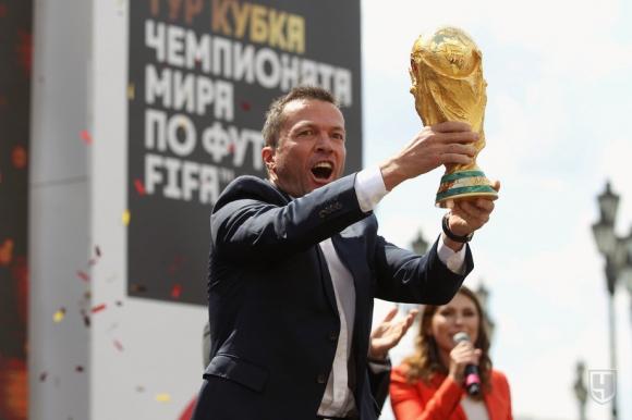 Лотар Матеус представи световната купа в Москва
