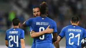 Балотели се завърна с гол в дебюта на Манчини (видео)