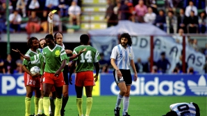 Камерун скри топката на Марадона и шашна света