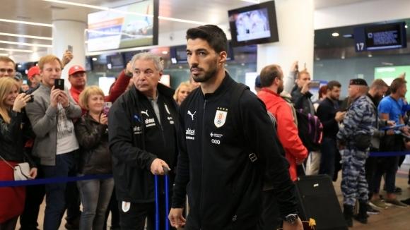 Отборът на Уругвай пристигна в Русия