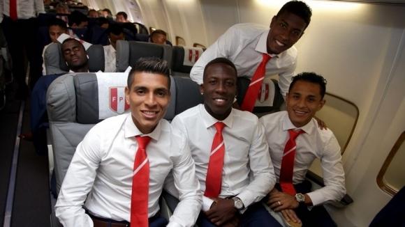 Отборът на Перу пристигна в Русия