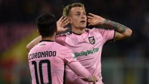 Палермо взе крехък аванс в плейофа за Серия А