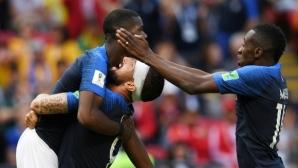 Технологиите и късметът на Погба помогнаха на колебливите звезди на Франция в безпрецедентен мач (видео)