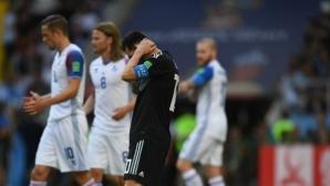 Лионел Меси издъни Аржентина, гаучосите се сблъскаха в исландската стена (видео+снимки)