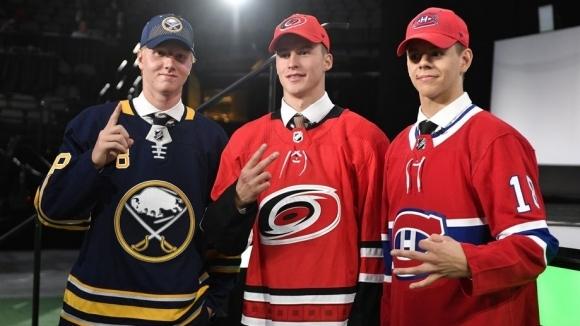 Трима европейци бяха избрани с първите три пика в драфта на НХЛ