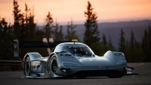 Volkswagen гони рекорд с електрическия си болид (снимки + видео)