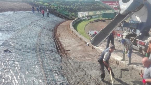 Ботев Вр започна ремонт на стадиона