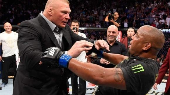 Леснар нападна Кормие в Октагона, двамата ще се бият със сигурност в UFC