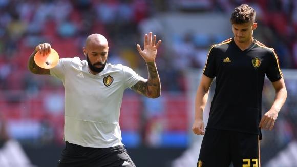 Тиери Анри помага на Белгия срещу Франция