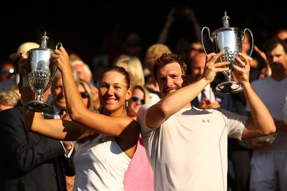 """Австриец и американка триумфираха при смесените двойки на """"Уимбълдън"""""""