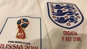 Англия излиза в бяло срещу Хърватия