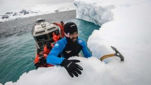 Световен шампион по височинни скокове скача от айсберг (видео)
