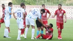 Шок! ЦСКА-София остана без играчи за Адмира, бой и 4 червени картона след края на мача в Рига