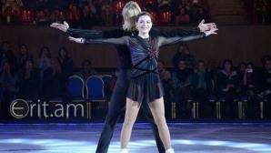 Евгени Плюшченко и Аделина Сотникова на лагер в България