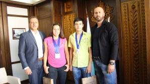 Европейски шампиони  на гости на кмета на Банско