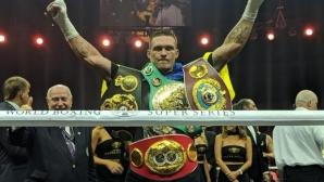 Усик стана абсолютен шампион в полутежка категория след открит урок срещу Гасиев