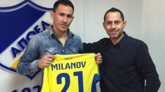 Живко Миланов с цял мач при победа на АПОЕЛ Никозия в квалификациите на Лига Европа