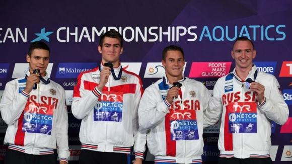 Мъжката щафета на Русия изненадващо спечели на 4 по 100 свободен стил