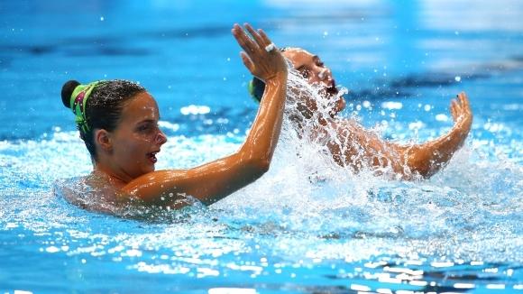 Българският дует последен в квалификацията във волната програма в синхронното плуване