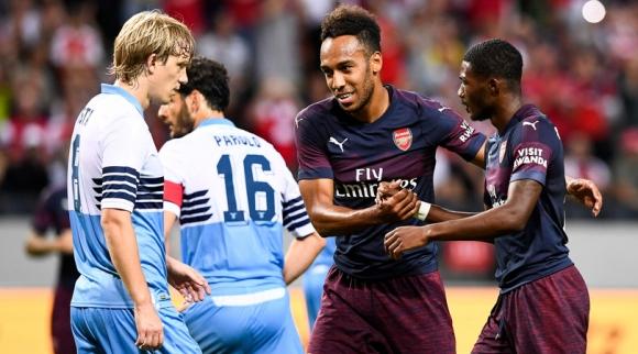 """Арсенал """"сгъна"""" Лацио и започва сезона след Венгер като летен отличник (видео)"""