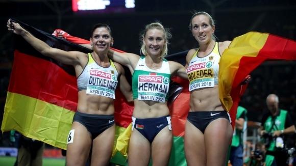 Беларускиня отмъкна златото на германките на 100 м/пр