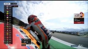 Маркес падна в загрявката преди ГП на Австрия, Дови - първи (видео)