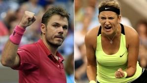 Вавринка и Азаренка получиха покани за US Open