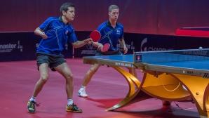 Александров и Коджабашев близо до четвъртфинал срещу легендите Ма Лонг и Сю Син