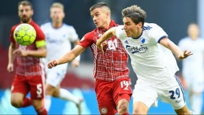 Копенхаген - ЦСКА-София 1:0 след гол от засада (видео)