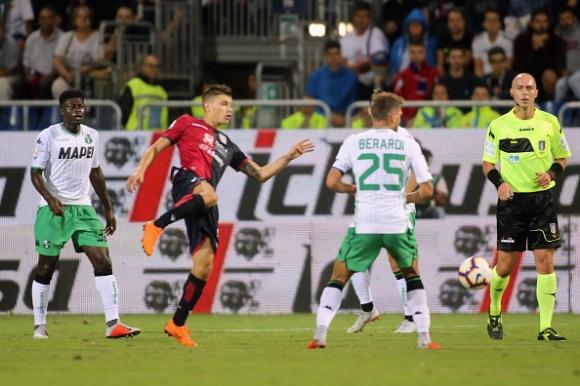 Драма в Сардиния! Дузпа в 99-ата минута спаси Сасуоло срещу Каляри