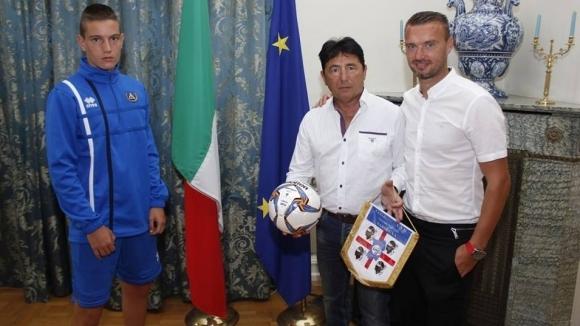 Левски и Каляри заедно при посланика на Италия