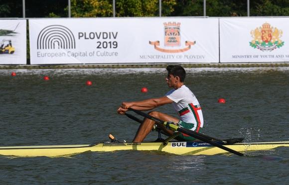 Лазар Пенев завърши на 5-о място в репешаж 2 на скиф лека категория
