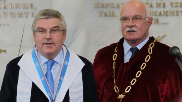 Президентът на МОК стана Доктор хонорис кауза на НСА