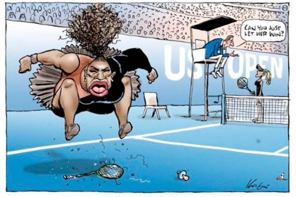 Половинката на Серина се възмути от карикатурата й