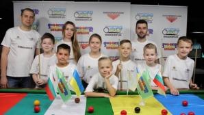 """Украинските деца от снукър академията в Киев подкрепят проекта """"Избери снукъра 2"""""""