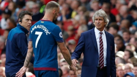 Арнаутович е под въпрос за мача на Уест Хам срещу Челси
