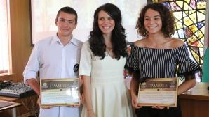 """Министър Кралев и заместник-министър Колева наградиха участниците в конкурса """"Спортувай с послание"""""""