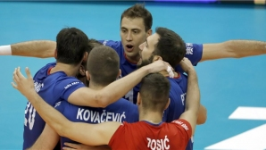 Франция изпусна 3 мачбола и Сърбия триумфира в 5-геймова драма във Варна (видео + снимки)
